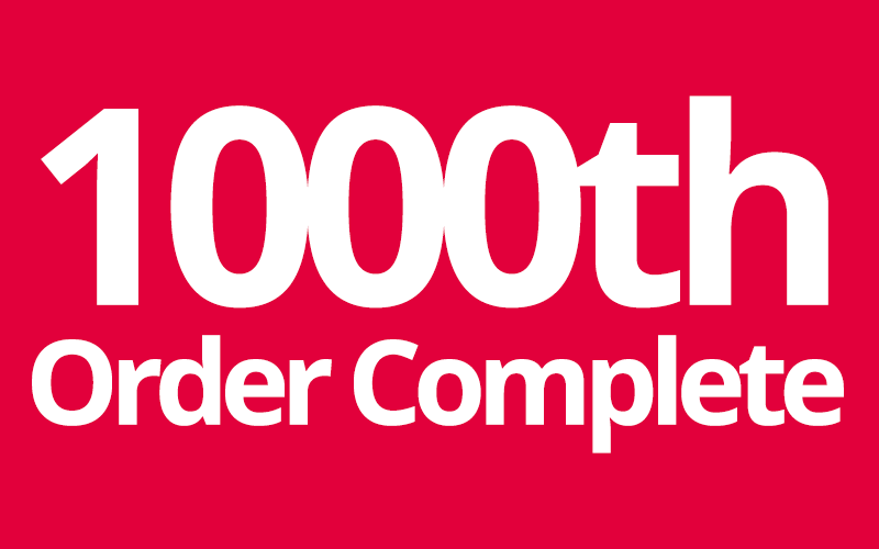 1000th order completed