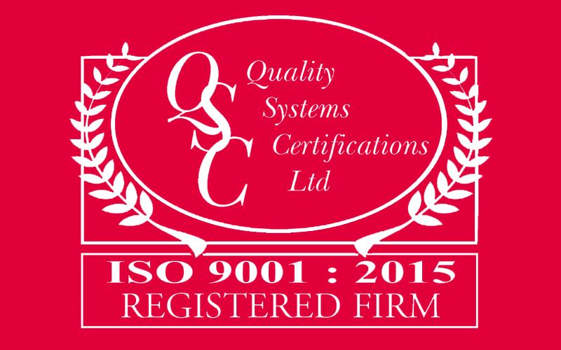 ISO 9001:2015 CNC machining