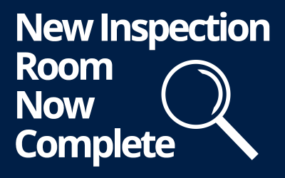 Completion of our new inspection room